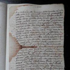 Manuscritos antiguos: MANUSCRITO AÑO 1565 VILLAFRANCA NAVARRA SENTENCIA SOBRE REGADÍOS DE UNA HUERTA. Lote 183959613