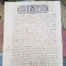 Manuscritos antiguos: ANTIGUO DOCUMENTO S. XIX CAÑADAS DE SAN PEDRO MURCIA 1836. Lote 183996100