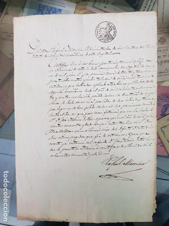 ANTIGUO DOCUMENTO S XIX COTILLAS MURCIA 1856 (Coleccionismo - Documentos - Manuscritos)