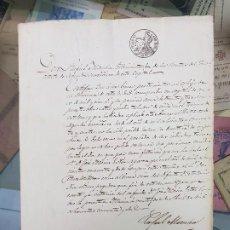 Manuscritos antiguos: ANTIGUO DOCUMENTO S XIX COTILLAS MURCIA 1856. Lote 183997078