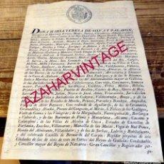 Manuscritos antiguos: MARIA TERESA DE SILVA Y PALAFOX,MADRE DUQUE DE ALBA, NOMBRAMIENTO DE REGIDORES,1804. Lote 184043653