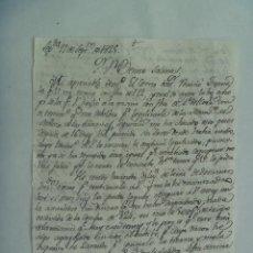 Manuscritos antiguos: CARTA MANUSCRITA ESCRITA EN SEPULVEDA EN 1825 , SIGLO XIX. Lote 184045616