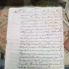 Manuscritos antiguos: ANTIGUO DOCUMENTO VELEZ BLANCO ALMERIA S. XVIII. Lote 184115721