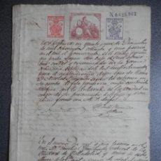 Manuscrits anciens: RAROS SELLOS POLICÍA CUBA PEGADOS EN MANUSCRITO AÑO 1881 ACTUACIONES JUDICIALES. Lote 184328642