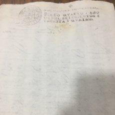 Manuscritos antiguos: FELIPE V 1734 SELLO DESPACHOS DE OFICIO CUATRO MARAVEDIS. Lote 184458388