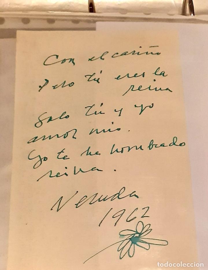 Manuscritos antiguos: MANUSCRITO Y AUTÓGRAFO AMOROSO DE PABLO NERUDA - Foto 2 - 155249814