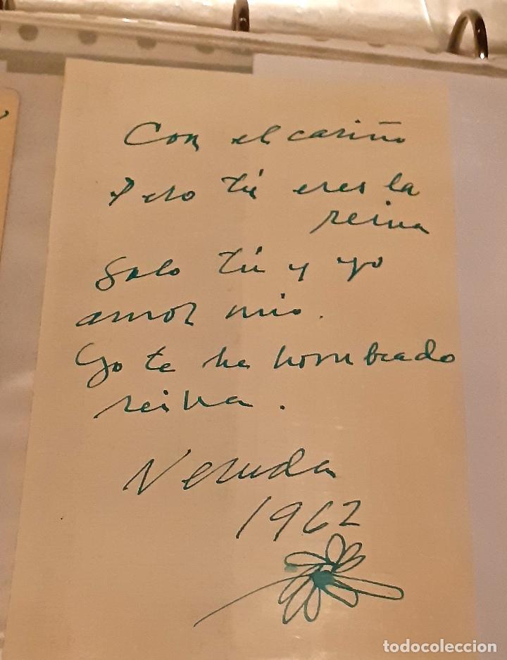 Manuscritos antiguos: MANUSCRITO Y AUTÓGRAFO AMOROSO DE PABLO NERUDA - Foto 3 - 155249814