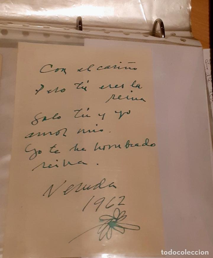 Manuscritos antiguos: MANUSCRITO Y AUTÓGRAFO AMOROSO DE PABLO NERUDA - Foto 4 - 155249814