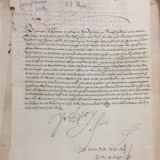 Manuscritos antiguos: MANUSCRITO FIRMADO POR FELIPE II (1567). Lote 184495956