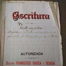 Manuscritos antiguos: ESCRITURA CARTA DE PAGO N 61 AÑO 1892 VALLS VALLMOLL TARRAGONA FRANCISCO DASCA Y BOADA MANUSCRITO. Lote 184545638