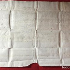 Manuscritos antiguos: PERGAMINO DE MALLORCA DEL 1438 - 46 X 30 CM - MUY BUENA CONSERVACIÓN . Lote 184558005