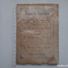 Manuscritos antiguos: ANTIGUA ESCRITURA MANUSCRITO 1897 , MASAMAGRELL , VALENCIA. Lote 184611596