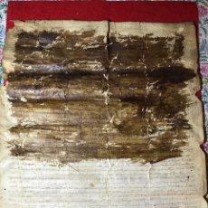Manuscritos antiguos: PERGAMINO MANUSCRITO DE SALAMANCA 1340 - BUENA CONSERVACIÓN - GRANDES DIMENSIONES 53 X 43 CM . Lote 184621807