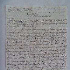 Manuscritos antiguos: CARTA MANUSCRITA ESCRITA EN SEPULVEDA EN 1825 , SIGLO XIX. Lote 184673472