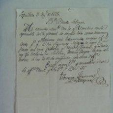 Manuscritos antiguos: CARTA MANUSCRITA ESCRITA EN SEPULVEDA EN 1825 , SIGLO XIX. Lote 184754170