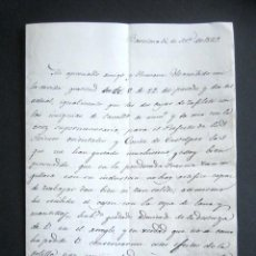 Manuscritos antiguos: AÑO 1829. BARCELONA. RECEPCIÓN DE INSIGNIAS DE CABALLERO Y CRUZ. FIRMA DEL CONDE DE ESPAÑA. . Lote 184928202