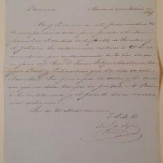 Manuscritos antiguos: CARTA. MANUEL SEIJAS LOZANO 1847. Lote 184929692