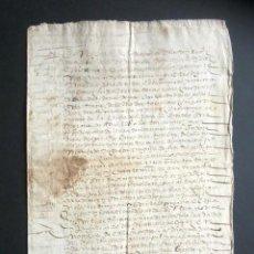 Manuscritos antiguos: AÑO 1616. OCÓN, LOGROÑO. ESCRITURA DE REDENCIÓN DE UN CENSO DE DOCTOR A FAVOR DE 100 DUCADOS. . Lote 184933882