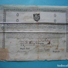 Manuscritos antiguos: ESTUDIO GENERAL DE BURGOS - TITULO DE TEOLOGIA - AÑO 1784 CON SELLO PLACA CASTROURDIALES SANTANDER. Lote 185716457