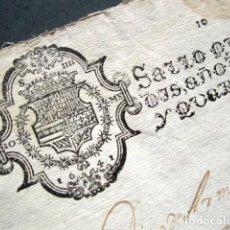 Manuscritos antiguos: AÑO 1641. SELLO CUARTO DOBLE. 10 MARAVEDIS + 10 MARAVEDIS. FELIPE IV. PAPEL TIMBRADO. . Lote 185720327