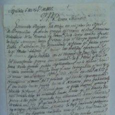Manuscritos antiguos: CARTA MANUSCRITA ESCRITA EN SEPULVEDA EN 1825 , SIGLO XIX. Lote 185752270