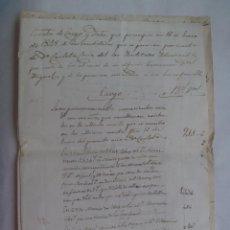 Manuscritos antiguos: DOCUMENTO MANUSCRITO DE 1848, DEL SIGLO XIX. Lote 185926238