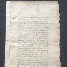 Manuscritos antiguos: MANUSCRITO DE MARTIN SÁEZ DE SAMANIEGO DEL MISMO LUGAR. AÑO 1541 TRASLADÓ DE 1724 TESTAMENTO. . Lote 185960563