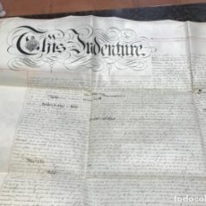 Manuscritos antiguos: MANUSCRITO CON SELLO. Lote 185988631