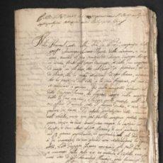 Manuscrits anciens: MANUSCRITO ITALIANO REINO DE NÁPOLES FERNANDO IV. DOCUMENTOS NOTARIALES ENCUARDENARDOS 1759-1816.. Lote 186048173