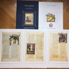 Manuscritos antiguos: FACSÍMIL BEATO DE LIÉBANA. BIBLIOTECA ESCURIALENSE (CARPETA, 3 FOLIOS; TESTIMONIO,1993)COLECCIONISTA. Lote 186218723