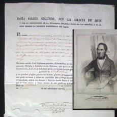 Manuscritos antiguos: MANUSCRITO FIRMADO POR BALDOMERO ESPARTERO , AÑO 1841 , MAS GRABADO AÑO 1846. Lote 186248506