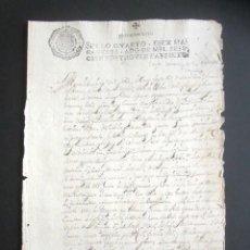 Manuscritos antiguos: AÑO 1697. SANTO DOMINGO DE LA CALZADA, LOGROÑO. SELLO CUARTO. 10 MARAVEDIS. PAPEL TIMBRADO. . Lote 186310217