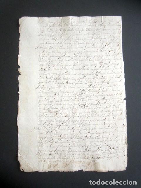 Manuscritos antiguos: AÑO 1697. SANTO DOMINGO DE LA CALZADA, LOGROÑO. SELLO CUARTO. 10 MARAVEDIS. PAPEL TIMBRADO. - Foto 3 - 186310217