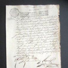 Manuscritos antiguos: AÑO 1697. SANTO DOMINGO DE LA CALZADA, LOGROÑO. SELLO CUARTO. 10 MARAVEDIS. PAPEL TIMBRADO. . Lote 186310336
