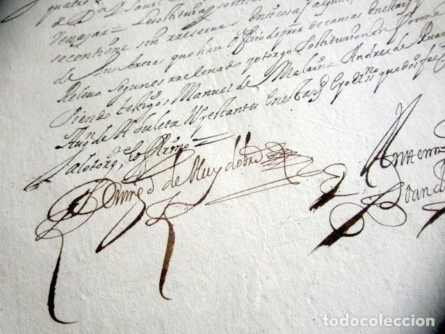 Manuscritos antiguos: AÑO 1697. SANTO DOMINGO DE LA CALZADA, LOGROÑO. SELLO CUARTO. 10 MARAVEDIS. PAPEL TIMBRADO. - Foto 3 - 186310336