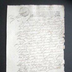 Manuscritos antiguos: AÑO 1697. SANTO DOMINGO DE LA CALZADA, LOGROÑO. SELLO CUARTO. 10 MARAVEDIS. PAPEL TIMBRADO. . Lote 186310376