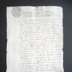 Manuscritos antiguos: AÑO 1699. STO DOMINGO DE LA CALZADA, LOGROÑO.SELLO CUARTO. 10 MARAVEDIS. CARLOS II. PAPEL TIMBRADO. . Lote 186310635