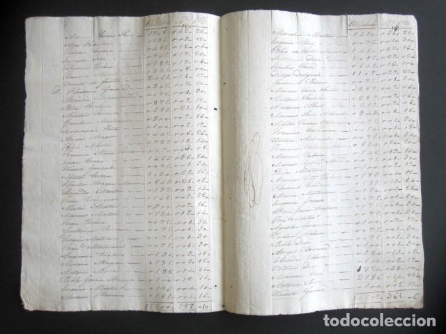 Manuscritos antiguos: AÑO 1844. SELLO DOBLE DE OFICIO. NO COINCIDE CON CATÁLOGO. RARO. ISABEL II. PAPEL TIMBRADO. - Foto 3 - 186311783