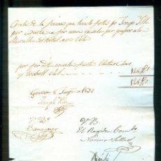 Manuscritos antiguos: NUMULITE A30120 COMPTES JOSEP YLLA GERONA GIRONA 1837 ESCALA MURALLA DEL PORTAL MANUSCRITO. Lote 186339822