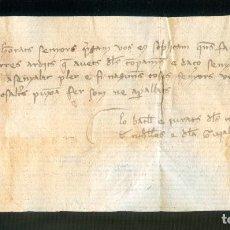Manuscritos antiguos: NUMULITE A30122 CARTA MANUSCRITA JURATS GERONA GIRONA MANUSCRITO. Lote 186340190