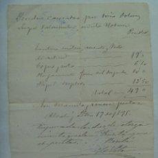 Manuscritos antiguos: FACTURA DE UN NOTARIO DE ALCALA DE GUADAIRA ( SEVILLA ) DEL SIGLO XIX . ALCALA, 1895. MANUSCRITA. Lote 186439152
