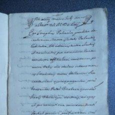 Manuscritos antiguos: MANUSCRITO AÑO 1661 PLANES ALCOY SEGORBE XERICÁ VALENCIA JÁTIVA ONTENIENTE CENSOS 18 PÁGINAS. Lote 186460407