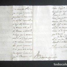 Manuscritos antiguos: AÑO 1741. MADRID. DECRETO EL REY. MÉRITO TRAS 38 AÑOS DE SERVICIO, AUDIENCIAS INDIAS Y CONSEJO. . Lote 186685700