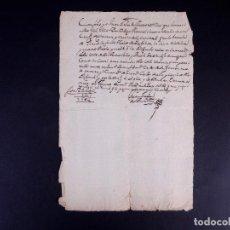 Manuscritos antiguos: MANUSCRITO DE PAGO FIRMADA POR JUAN GALAN ARTASO. CASCANTE 1756. Lote 187311048