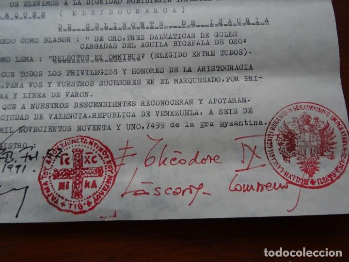 Manuscritos antiguos: Theodore IX Lascaris Comnene de Bizancio nombra Marqués de Selinonte de Isauria, 1991 - Foto 2 - 187512173