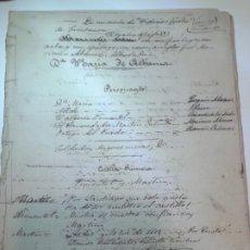 Manuscritos antiguos: TEATRO. CARLOS FRONTAURA. PRIMER BORRADOR ORIGINAL DE DOÑA MARÍA DE ALHAMA, OBRA DE 1864.. Lote 187515611
