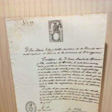 Manuscritos antiguos: ANTIGUO DOCUMENTO MANUSCRITO. Lote 188568820