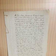 Manuscritos antiguos: ANTIGUO DOCUMENTO MANUSCRITO. Lote 188569227