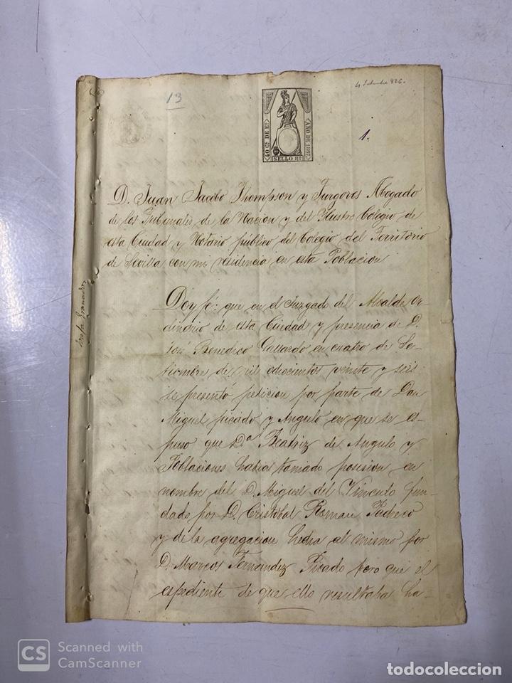 JEREZ DE LA FRA, 1867. AGREGACION Y REVALORIZACION DE TIERRAS + TITULOS DE VIÑA EN EL PAGO DE ARGAL (Coleccionismo - Documentos - Manuscritos)