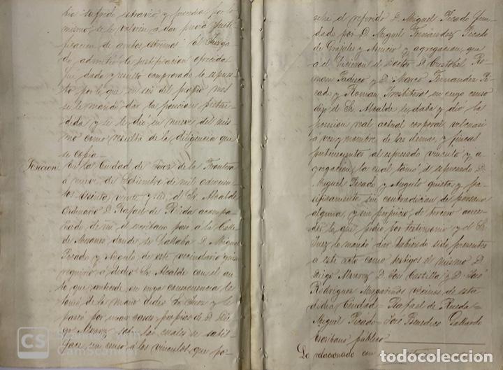 Manuscritos antiguos: JEREZ DE LA FRA, 1867. AGREGACION Y REVALORIZACION DE TIERRAS + TITULOS DE VIÑA EN EL PAGO DE ARGAL - Foto 2 - 189041657